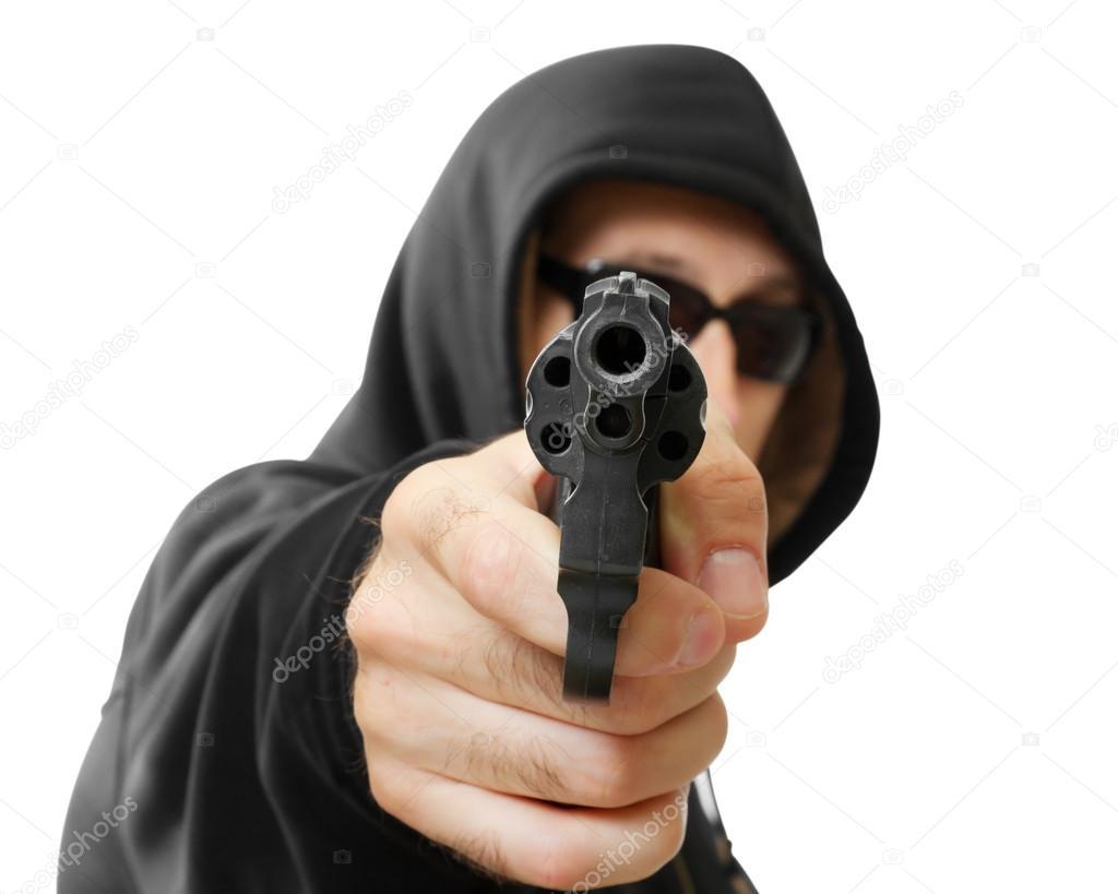 скачать фотку на человек в маске с пистолетом