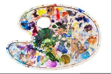 Artist palette, isolated on white stock vector