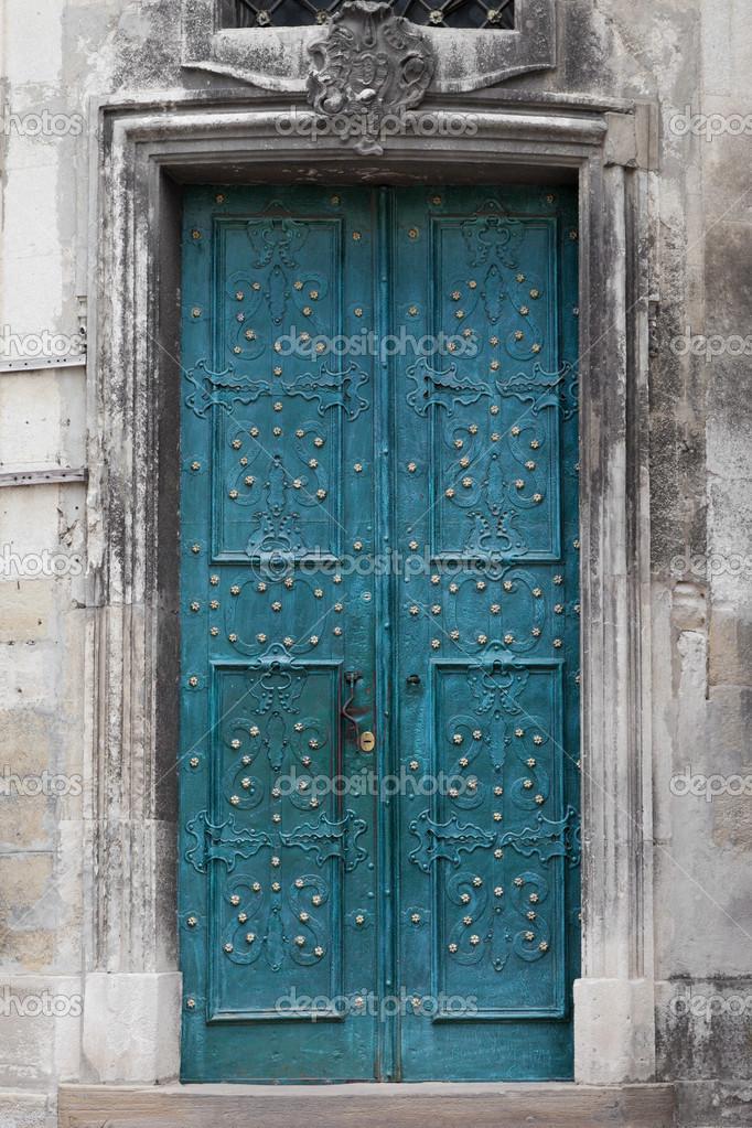 Porte d 39 entr e vintage orn de fer forg photo 32067993 - Taille standard porte d entree ...