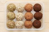 macrobiotica alimentazione sana: palle da terra germogli di grano con s