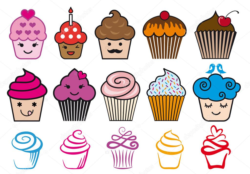 Disegni Cupcakes Cupcake Simpatici Disegni Set