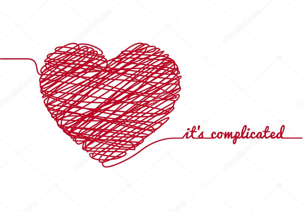 It is complicated with chaos heart, vector illustration clipart vector