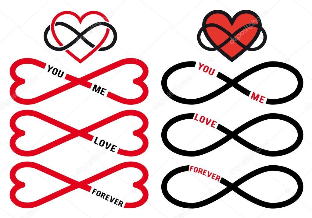 Infinity Symbol Love Stock Vectors Royalty Free Infinity Symbol