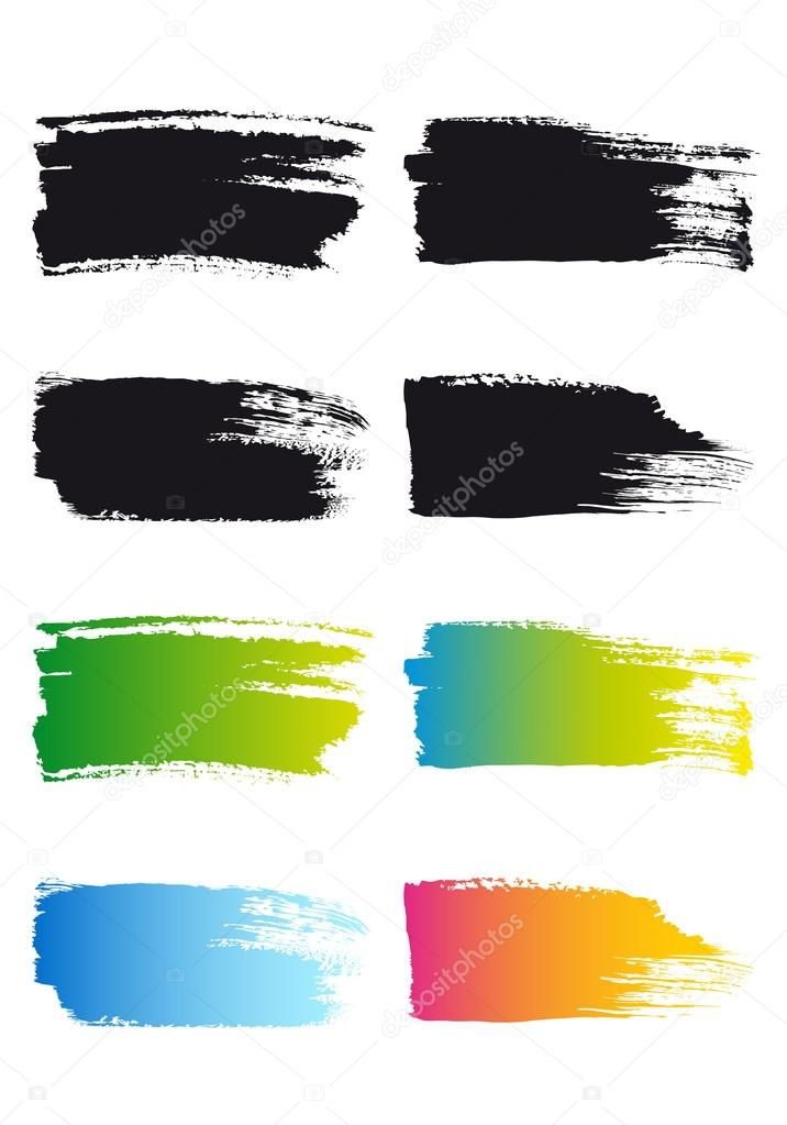 paint brush stroke frames, vector — Stock Vector © beaubelle #40360359
