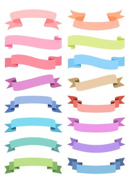 various ribbon set, vector