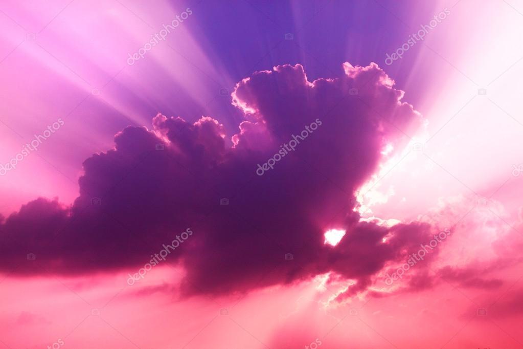 067b330aaa3c1 por do sol cor de rosa e violeta — Stock Photo © telos9  42034533