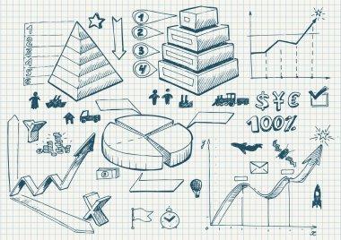 Set of doodles. diagrams
