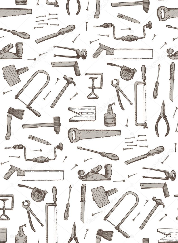 Tools seamless pattern