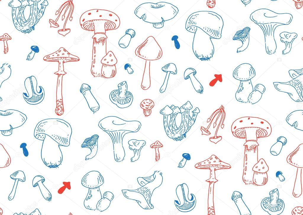 patrón sin costuras hongo — Archivo Imágenes Vectoriales © pakowacz ...