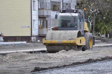 Special equipment on a construction of roads. Skating rink