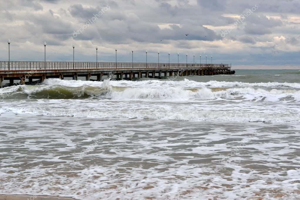 Waves of the Black Sea, Anapa, Krasnodar Krai.