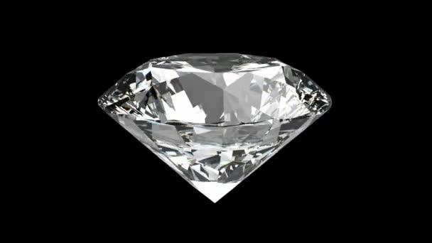 loopable rotační diamond nad černá se leskne