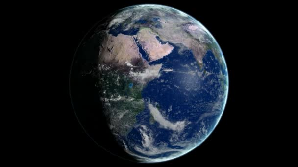 Loopable Planet Earth Rotating CG animation. Alpha channel is included