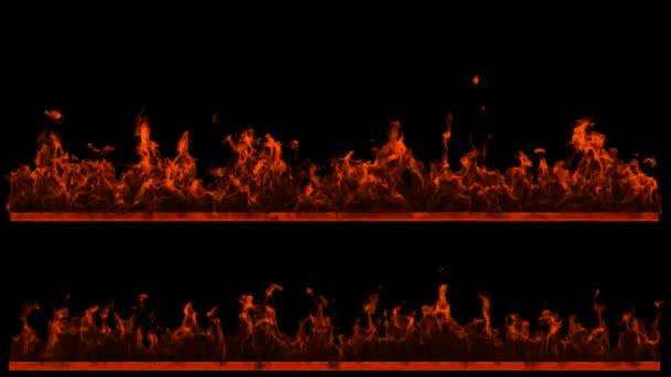 dva loopable oheň a plamen řádky. alfa kanál je zahrnuta