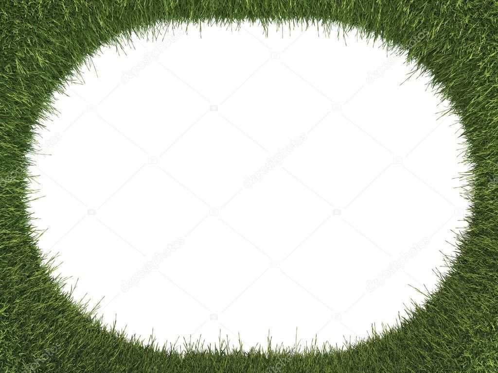 Verde hierba fresca redondeados marco: Ecología y medio ambiente ...