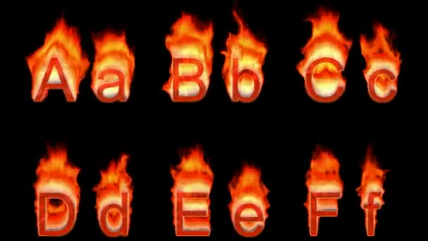 Loopable burning A, B,C,D,E,F