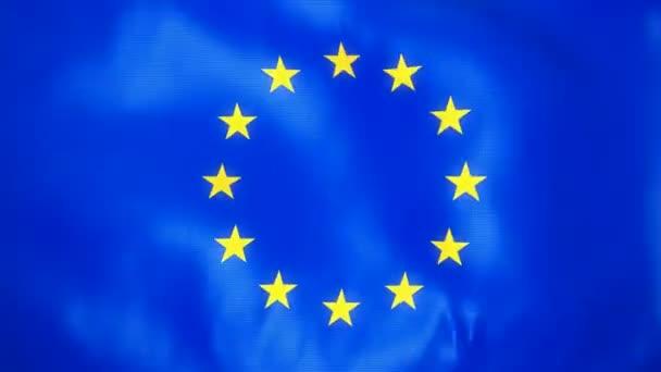 loopable vlající vlajka Evropské unie