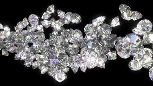 loopable diamanty a drahokamy tok s zpomalené