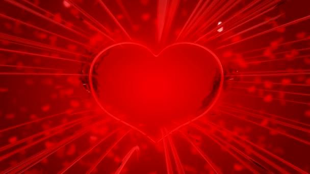 červená tvaru srdce den svatého Valentýna a jiskry