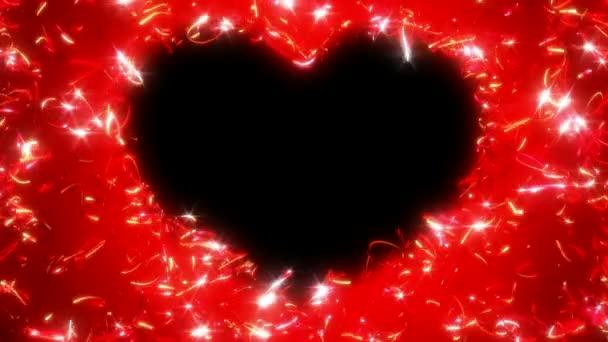loopable tvaru srdce den svatého Valentýna a leskne se stopami