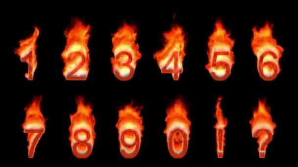 loopable hořící 0, 1, 2, 3, 4, 5, 6, 7, 8, 9.