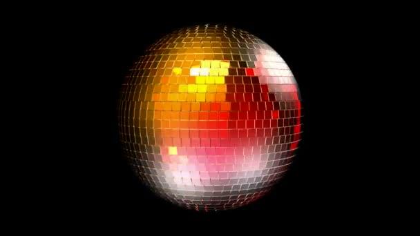Discobal Met Licht : Roterende disco bal met gereflecteerde licht u stockvideo
