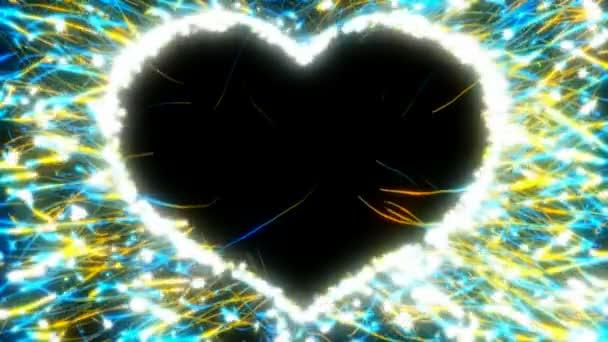 den svatého Valentýna tvaru srdce a jiskry