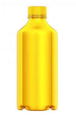 Golden bottle for chemicals or drugs isolated