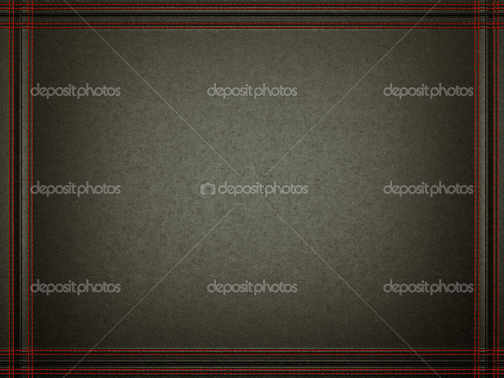 Black leather background with stitched red frame — Stock Photo ...