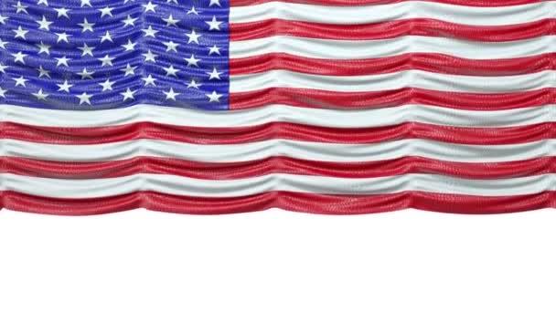 USA maquette Rideau drapeau croc — Vidéo Arsgera © #18798835