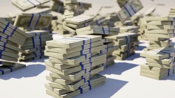 bohatství a peníze: nás svazky dolar padá na zem
