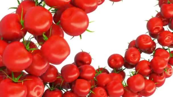 dva toky rajče cherry se zpomaleně