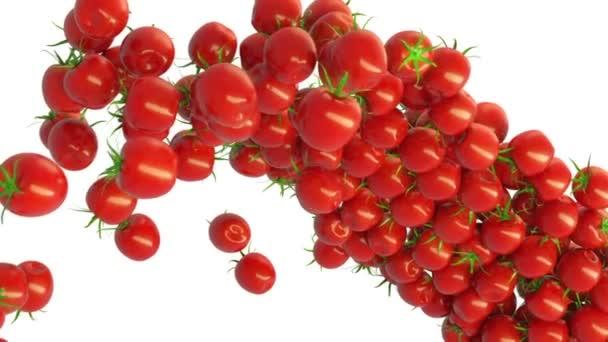 rajče cherry tok s zpomaleně. Alfa matný