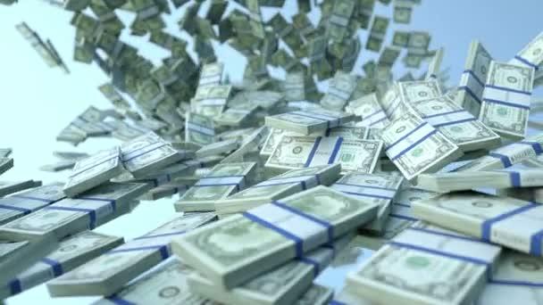 nás dolar svazky pomalý pohyb toku a modré oblohy. Alfa matný