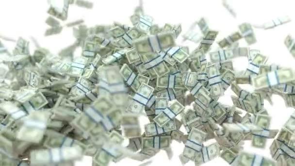 bohatství: dolaru hotovosti vír a rozptyl na bílém pozadí