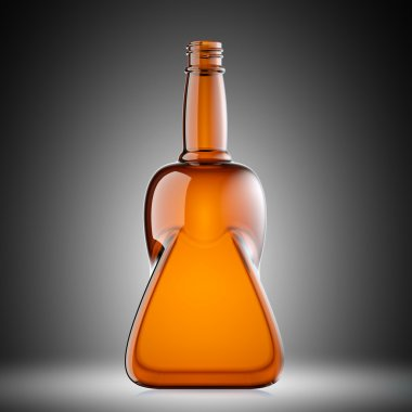 Red glass bottle
