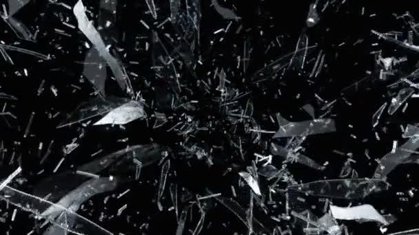 popraskané a rozbité sklo
