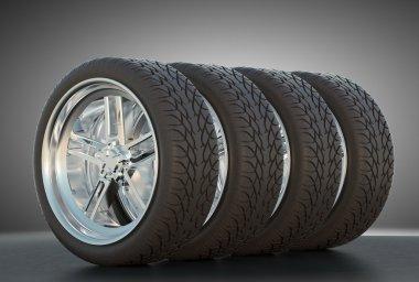 Four automotive wheels