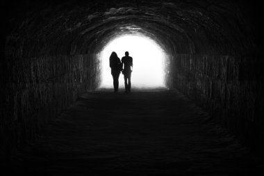 Couple and light