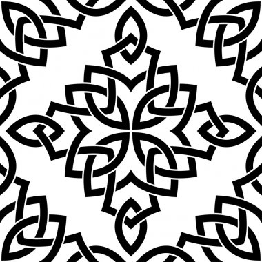 Black Celtic seamless pattern