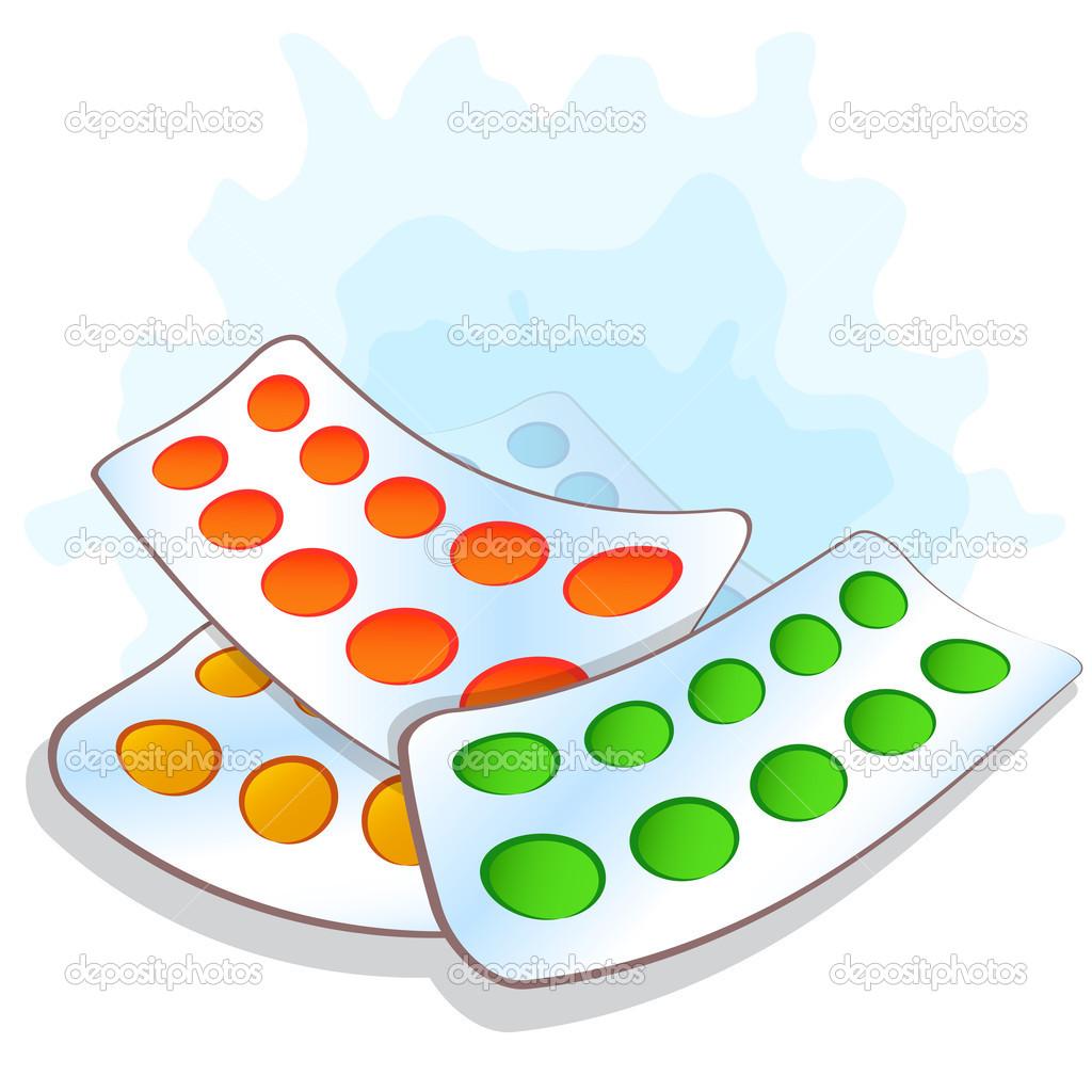 vector illustration pile blister packs with pills stock vector rh depositphotos com Pill Bottle Pile of Morphine Pills