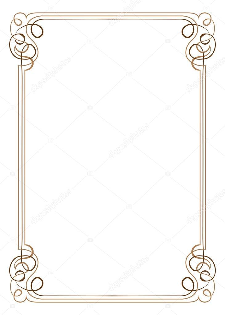 marco vector Vintage — Vector de stock © pzRomashka #41215225