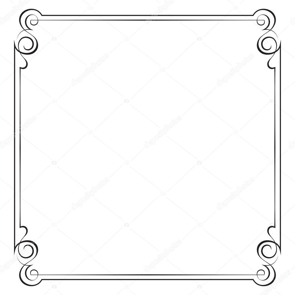 marco vector Vintage — Vector de stock © pzRomashka #42753837