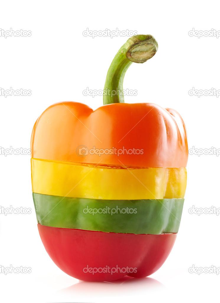 Paprika olika färger