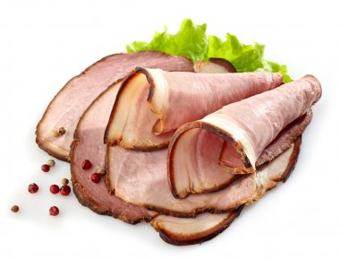 Smoked meat slices