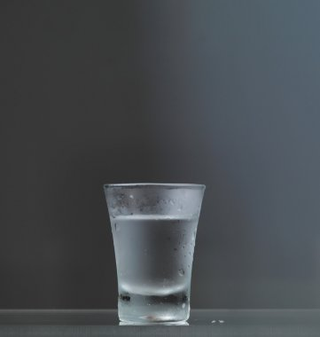 Cold vodka glass