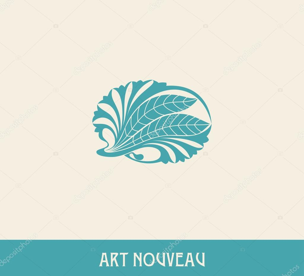 Floral element in art nouveau style.