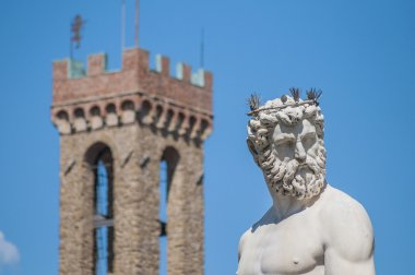 The Fountain of Neptune by Ammannati in Florence, Italy