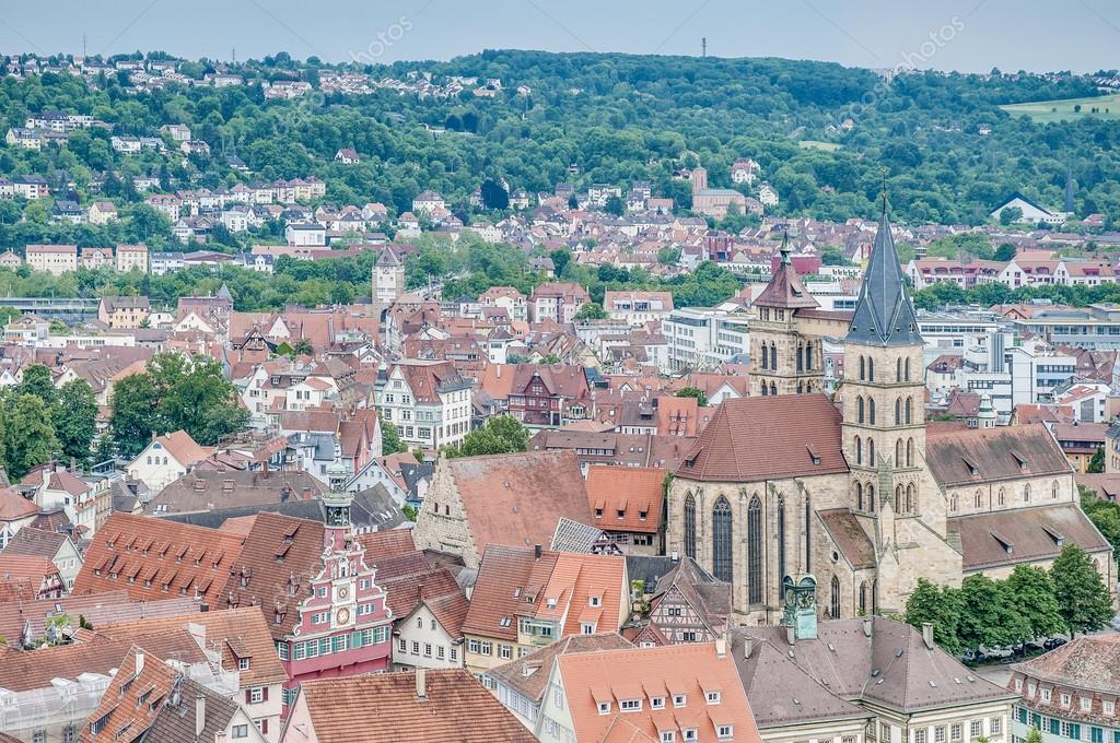 Esslingen Am Neckar Blick Von Der Burg Deutschland Stockfoto