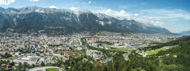 "Картина, постер, плакат, фотообои ""Инсбрук, как видно из bergisel башни, Австрия."", артикул 38304723"